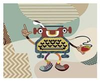 Retro Typewriter I Fine-Art Print