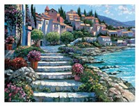 Steps of St. Tropez Fine-Art Print
