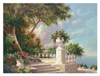 Balcony at Lake Como Fine-Art Print