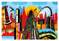 Chicago Bright and Colorful Fine-Art Print