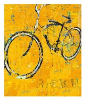 Gold Bike Fine-Art Print