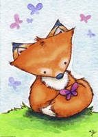 Little Fox and New Friend Fine-Art Print
