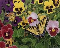 Butterflies And Pansies Fine-Art Print