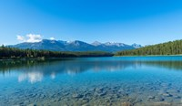 Patricia Lake with mountains in the background, Jasper National Park, Alberta, Canada Fine-Art Print