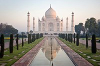 Reflection of a mausoleum in water, Taj Mahal, Agra, Uttar Pradesh, India Fine-Art Print