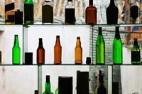 Bottles displayed at foreigner bar, Old Town, Dali, Yunnan Province, China Fine-Art Print