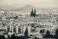 Cityscape with Cathedrale Notre-Dame-de-l'Assomption in the background, Clermont-Ferrand, Auvergne, Puy-de-Dome, France Fine-Art Print