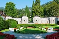 Garden at Villa d'Este hotel, Cernobbio, Lake Como, Lombardy, Italy Fine-Art Print
