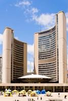 Facade of a government building, Toronto City Hall, Nathan Phillips Square, Toronto, Ontario, Canada Fine-Art Print