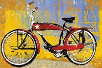 Red Bike with Star Fine-Art Print