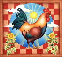 Morning Glory Rooster II Fine-Art Print