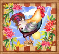 Morning Glory Rooster IV Fine-Art Print