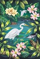 River Egret Fine-Art Print