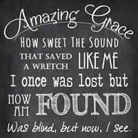 Amazing Grace Chalkboard Fine-Art Print