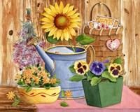 Pansies & Sunflowers Fine-Art Print