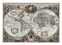 Nova Totius Terrarum Orbis Tabula Fine-Art Print