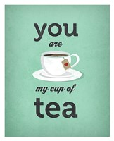 You Are My Cup of Tea (teal) Fine-Art Print