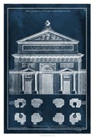 Palace Facade Blueprint I Fine-Art Print