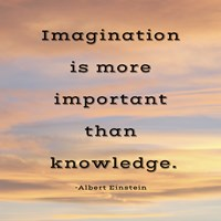 Imagination quote Fine-Art Print