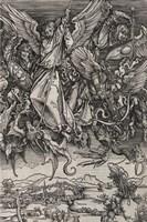 St. Michael Fighting the Dragon by Albrecht Durer, 1498 Fine-Art Print