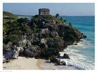 Ruins on a cliff, El Castillo Fine-Art Print