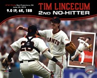 Tim Lincecum throws 2nd No-Hitter against the San Diego Padres on June 25, 2014 Fine-Art Print