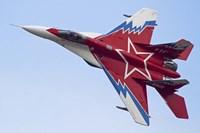 Top view of a Russian MiG-29OVT aerobatic aircraft Fine-Art Print