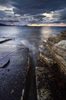 Midnight Sun over Vagsfjorden in Troms County, Norway Fine-Art Print