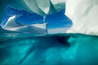 Antarctica, Arched Iceberg floating near Enterprise Island. Fine-Art Print