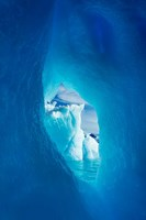 Antarctica, Iceberg framed in arch of another in Wilhelmina Bay. Fine-Art Print