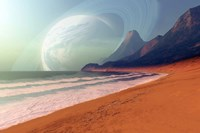 Cosmic Seascape on an Alien Planet Fine-Art Print