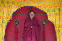 Monks in Sakya Monastery, Tibet, China Fine-Art Print