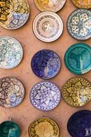 Moroccan Plates, Ensemble Artisanat, Ouarzazate, South of the High Atlas, Morocco Fine-Art Print