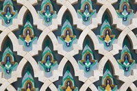 MOROCCO, Hassan II Mosque, Islamic Tile Detail Fine-Art Print