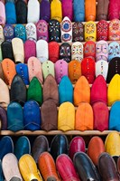 Leather slippers, Medina Fes, Middle Atlas, Morocco Fine-Art Print