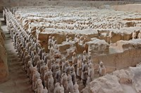 Museum of Qin Terra Cotta Warriors and Horses, Xian, Lintong County, Shaanxi Province, China Fine-Art Print