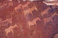 Pictograph, Engravings from Stone Age Culture, Twyfelfonstein Region, Namibia Fine-Art Print