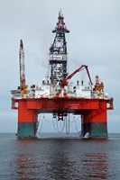 Oil Rig, Walvis Bay, Namibia, Africa. Fine-Art Print