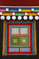 Tibetan-Styled Decoration in Tagong Monastery, Tagong, Sichuan, China Fine-Art Print