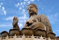 Tian Tan Buddha Statue, Ngong Ping, Lantau Island, Hong Kong, China Fine-Art Print