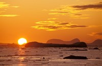 Sunset, Antarctic Peninsula, Antarctica Fine-Art Print