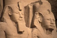 Statues of Ramses II, Abu Simbel, Egypt Fine-Art Print