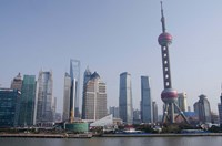 View from The Bund of the modern Pudong area, Shanghai, China Fine-Art Print