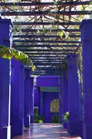 Villa Courtyard, Marrakech, Morocco Fine-Art Print