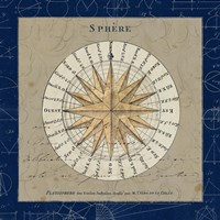 Sphere Compass Blue Fine-Art Print