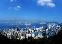 Majestic Hong Kong Harbor from Victoria Peak, Hong Kong, China Fine-Art Print