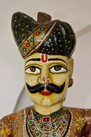 Statue Head, Raj Palace Hotel, Jaipur, India Fine-Art Print