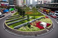 Garden Roundabout, Hong Kong, China Fine-Art Print
