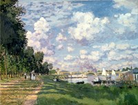 The Marina at Argenteuil, 1872 Fine-Art Print