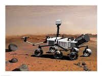 Concept of NASA's Mobile Robot for Investigating Mars Fine-Art Print